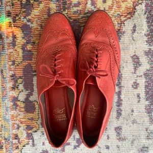 vintage gh bass and co red wingtip oxfords
